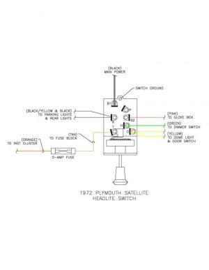 Headlight Switch Continuity Question  Mopar Forums