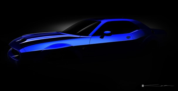 2019 Dodge Challenger SRT HELLCAT Widebody Teaser. (FCA US Photo)