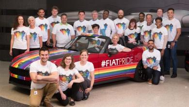 Photo of FCA US and FIAT Brand Lead the Motor City Pride Parade: