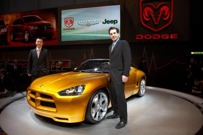 Jae Chung, Dodge Demon Principal Exterior Designer (left), and Dan Zimmermann, Dodge Demon Principal Interior Designer (right), 2007 Dodge Demon Concept. (Dodge)