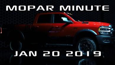 Photo of VIDEO: Mopar Minute: Sunday Jan 20th, 2019: