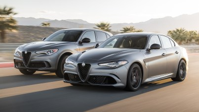 2019 Alfa Romeo Stelvio (Left) and Giulia (Right) Quadrifoglio NRING. (Alfa Romeo).