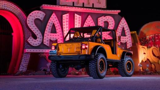 Jeep® CJ66 Concept at the Las Vegas Neon Museum. (Jeep).