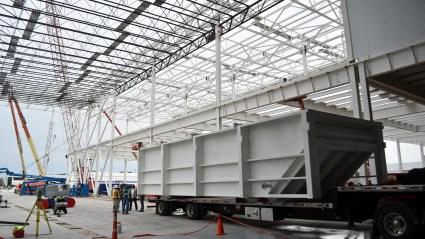 E-Coat Paint Dip Tanks Arrive At Mack Avenue Assembly Plant. (FCA).