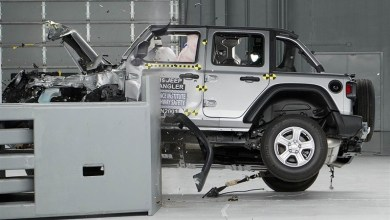 Photo of Jeep® Wrangler Unlimited Tips Over During IIHS Crash Test: