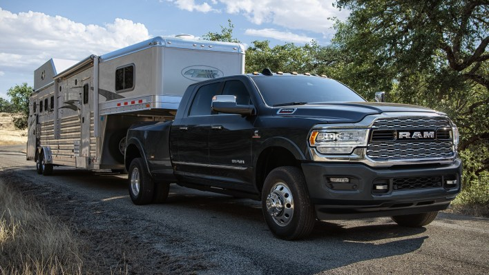 2021 Ram 3500 Limited Mega Cab 4x4 Dually with Fifth-Wheel / Gooseneck Towing Prep Group. (Ram).