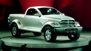 1999 Dodge Power Wagon Concept at the North American International Auto Show in Detroit. (Ram).