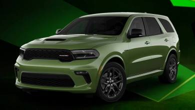 2021 Dodge Durango R/T Tow N Go in F8 Green. (Dodge).