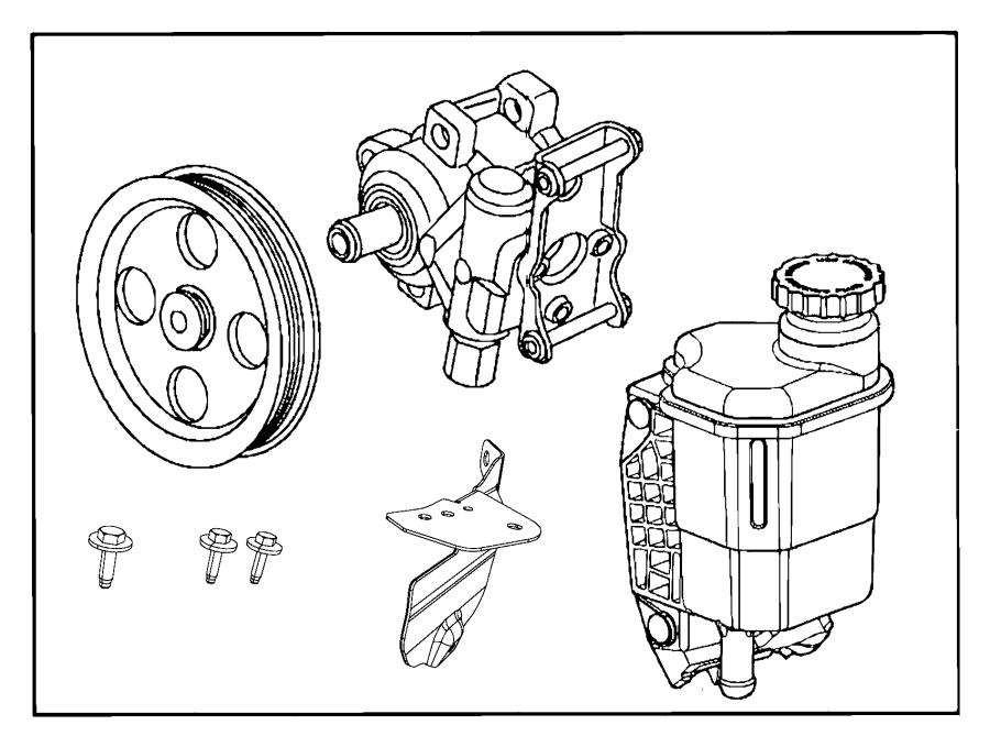 2014 Ram 5500 Reservoir. Power Steering Fluid. Pump, Turbo