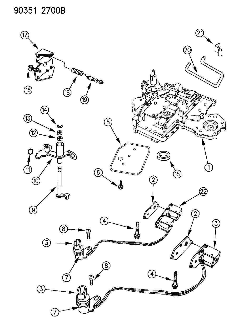 727 Torqueflite Transmission Exploded View