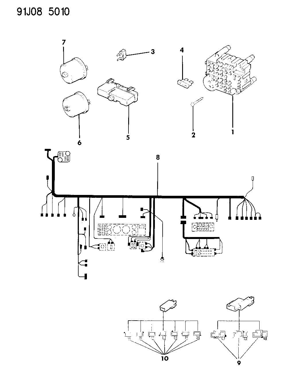Jeep Wrangler Wiring Instrument Panel Wrangler