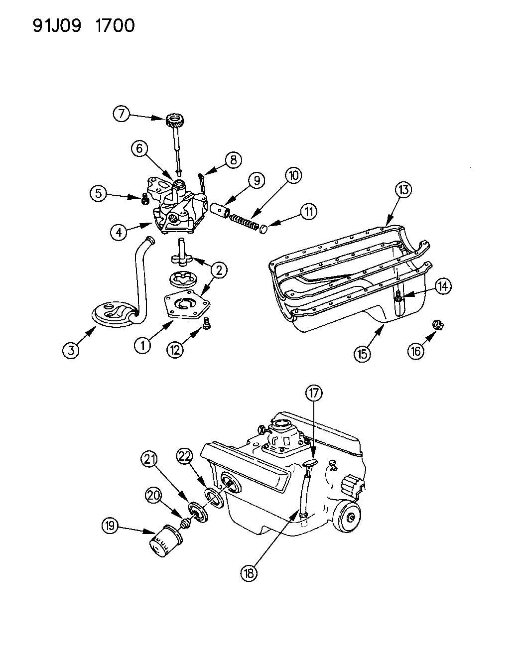 Jeep Grand Cherokee Engine Oiling 5 2l Engine Zj