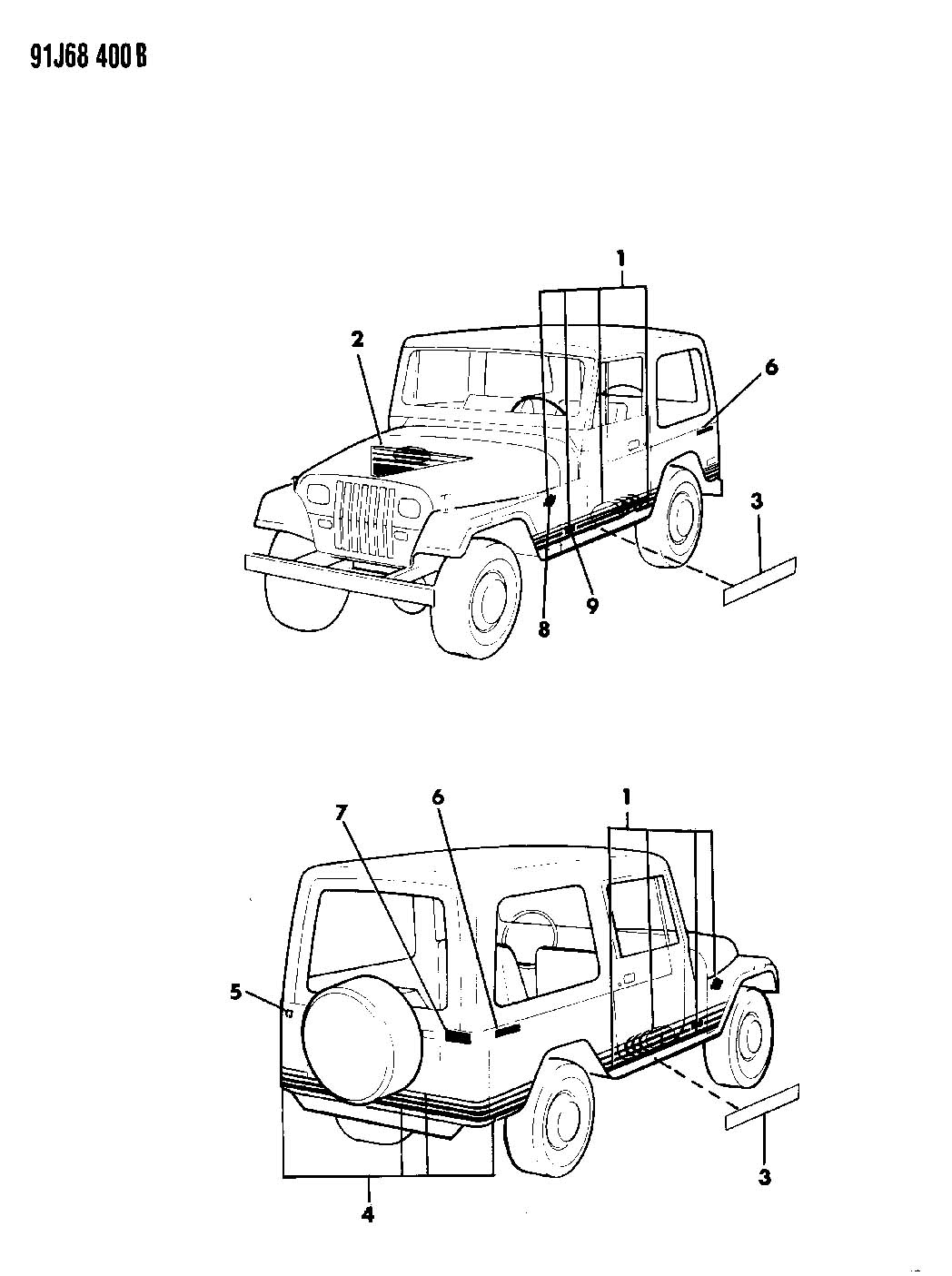 Jeep Wrangler Decals Bodyside And Rear Islander