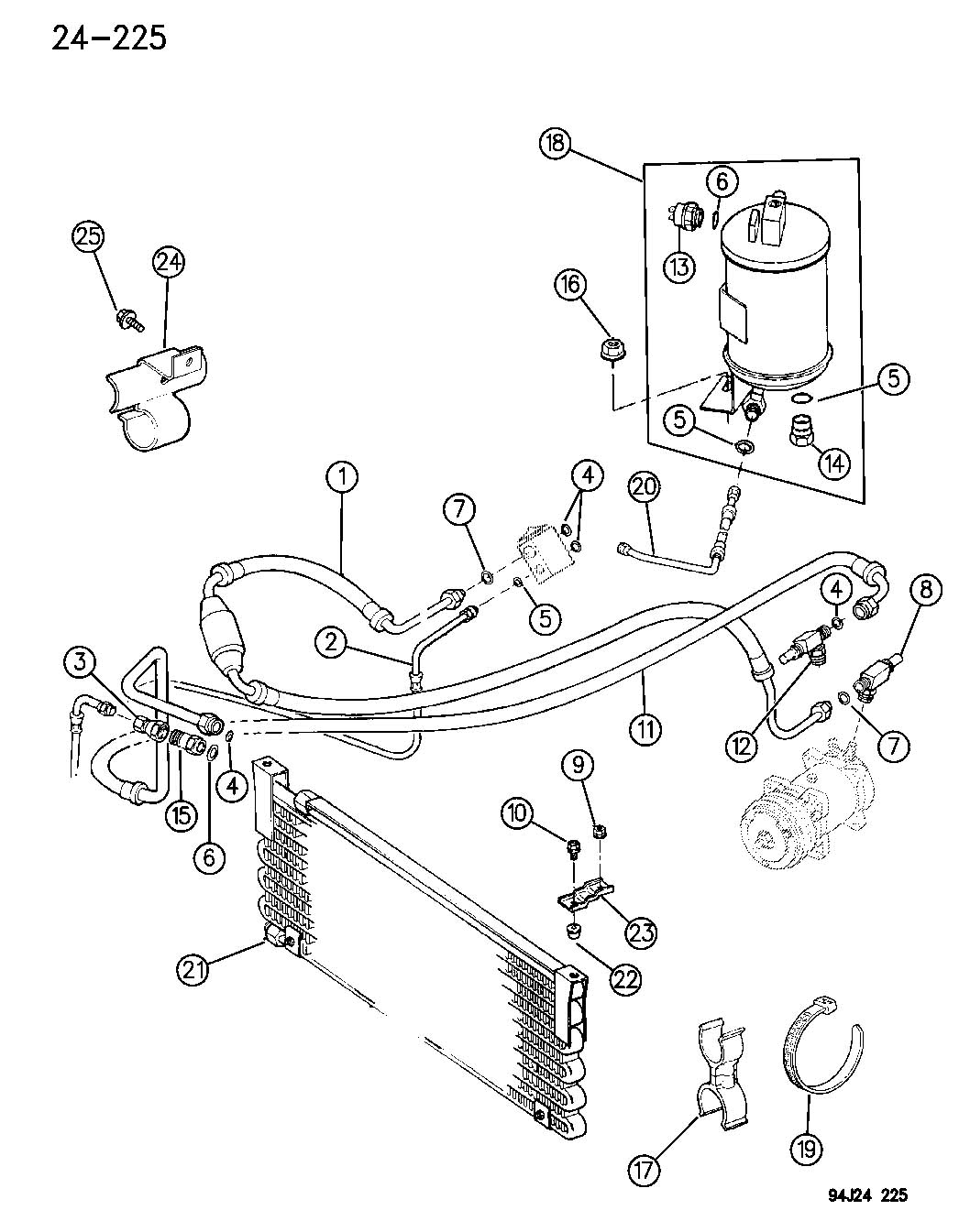 Receiver Drier Condensor And Lines 4 0l Engine Xj Body 95