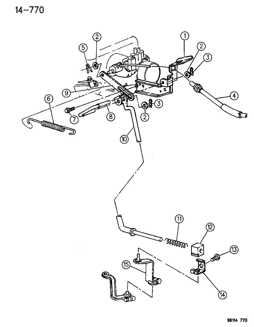 Dodge Grand Caravan Throttle Controls 3 0l Engine Ns Body