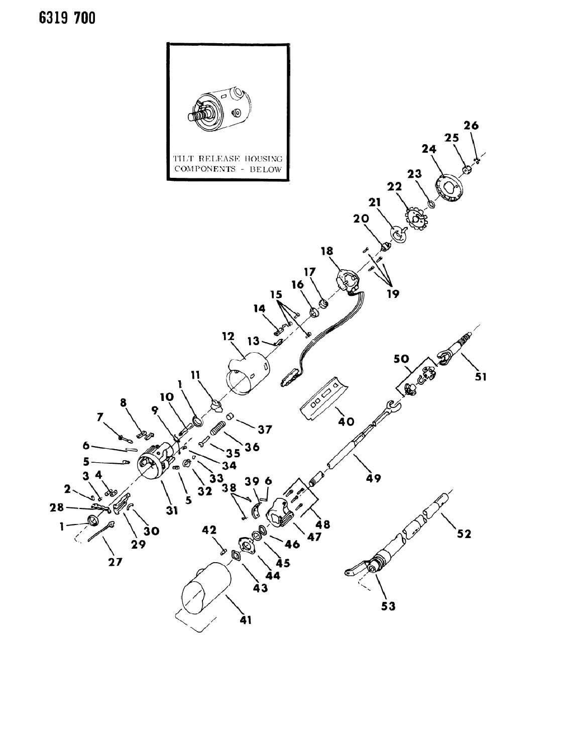 Dodge Ram Van Ram Wagon Column Steering Tilt
