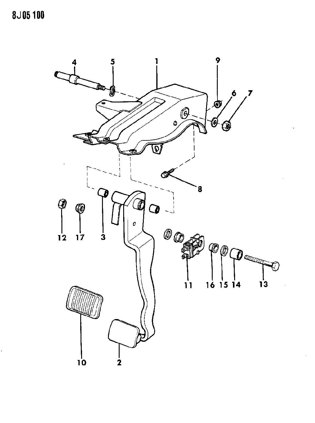 1987 jeep wrangler pedal brake wrangler yj