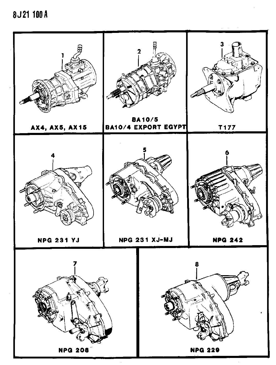 Jeep Comanche Manual Transmission And Transfer Case