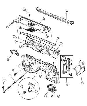1998 Jeep Wrangler Panels, Cowl And Dash Wrangler