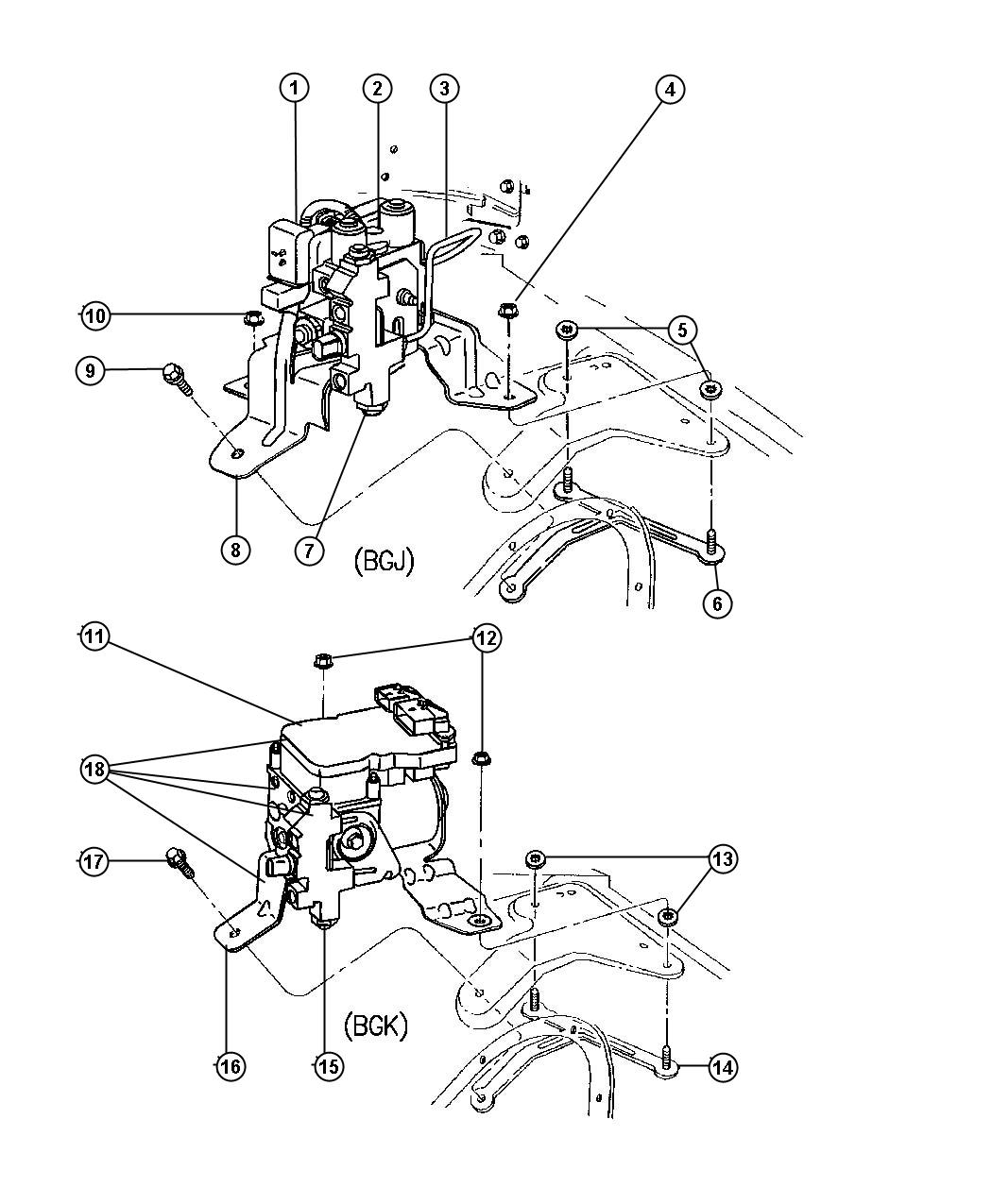 Dodge Ram Hydralic Control Unit Brake R W A L