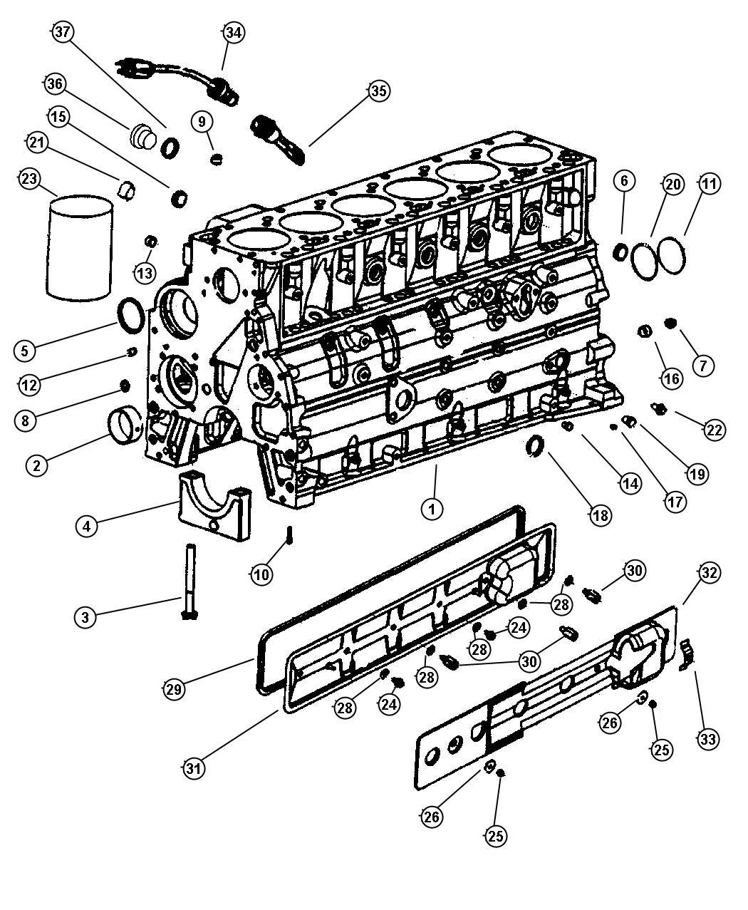 Dodge Ram Cylinder Block 5 9lsel Etc Eth