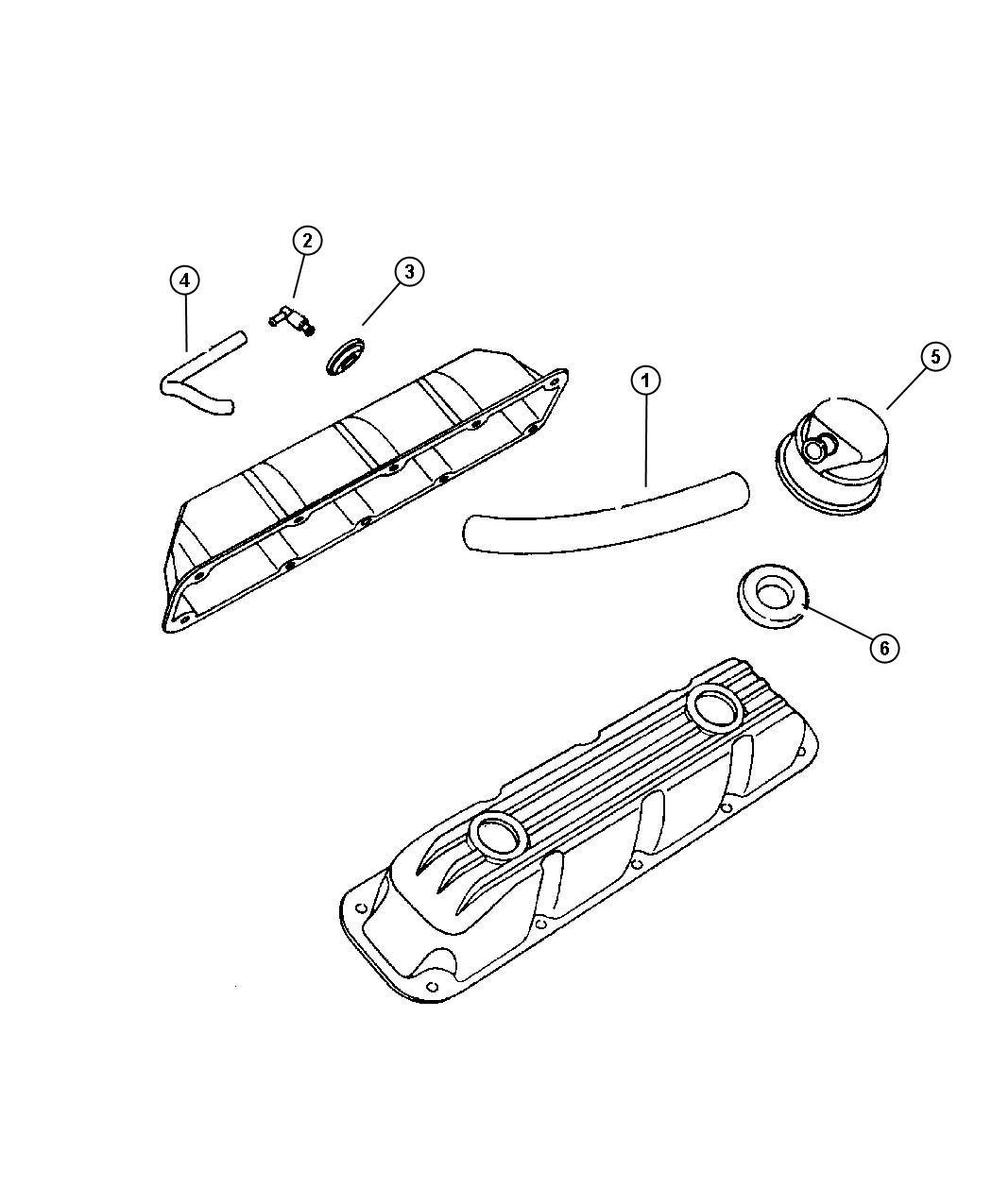 Dodge Ram Crankcase Ventilation 5 9l Eml 5
