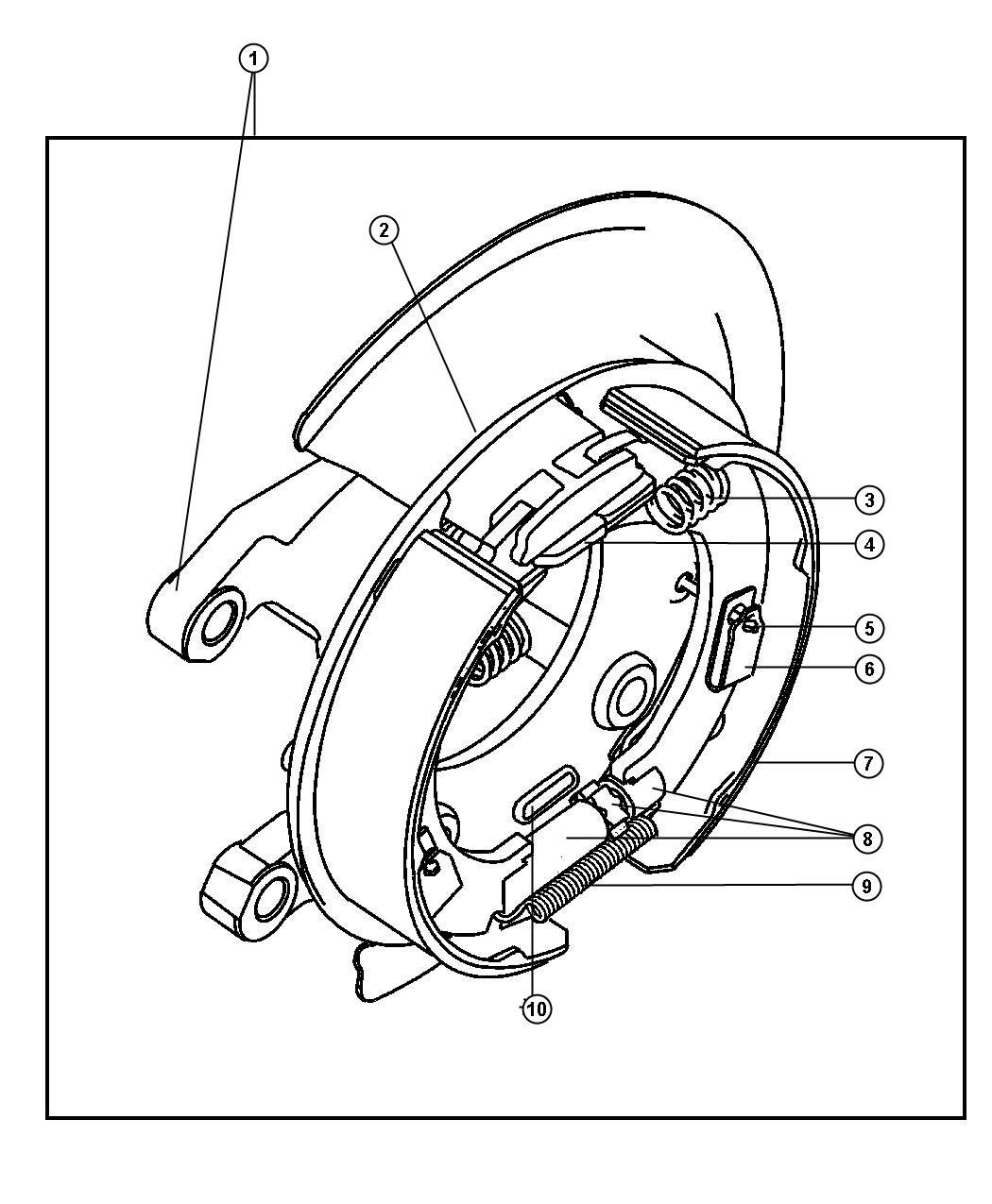 Dodge Ram Rear Disc Parking Brake Assy