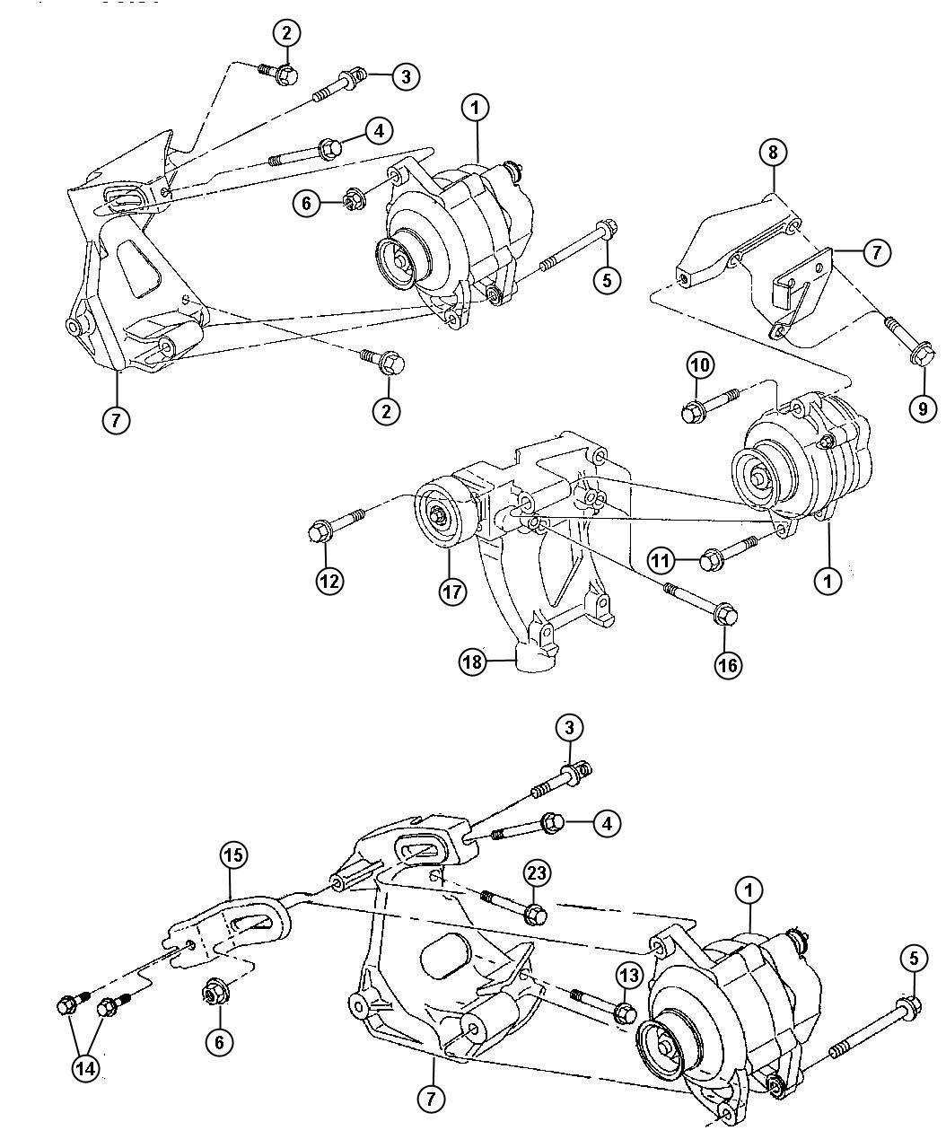 Alternator And Pulley Generator