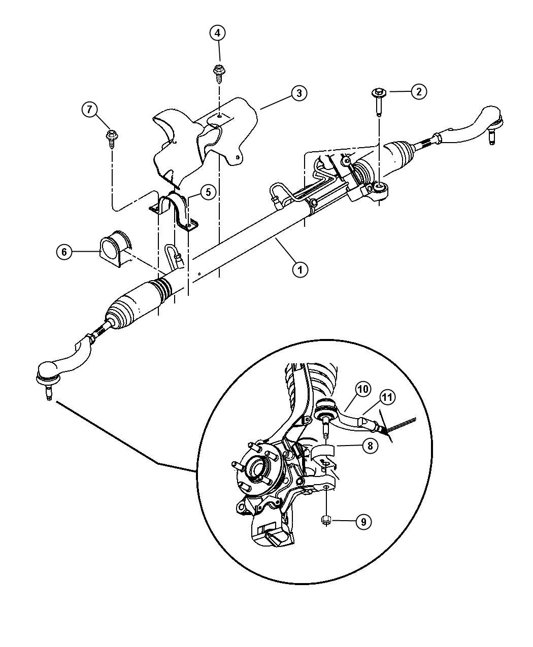 Chrysler Sebring Gear Rack Amp Pinion Power And