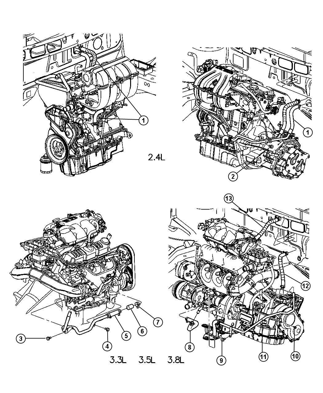 Chrysler Voyager Plumbing Heater