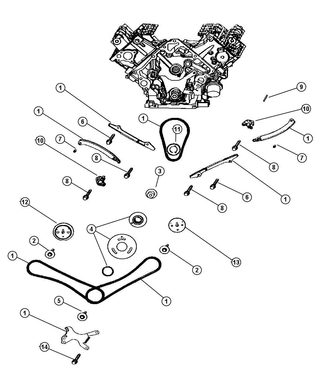 Dodge Dakota Timing Chain And Guides 4 7l Eva