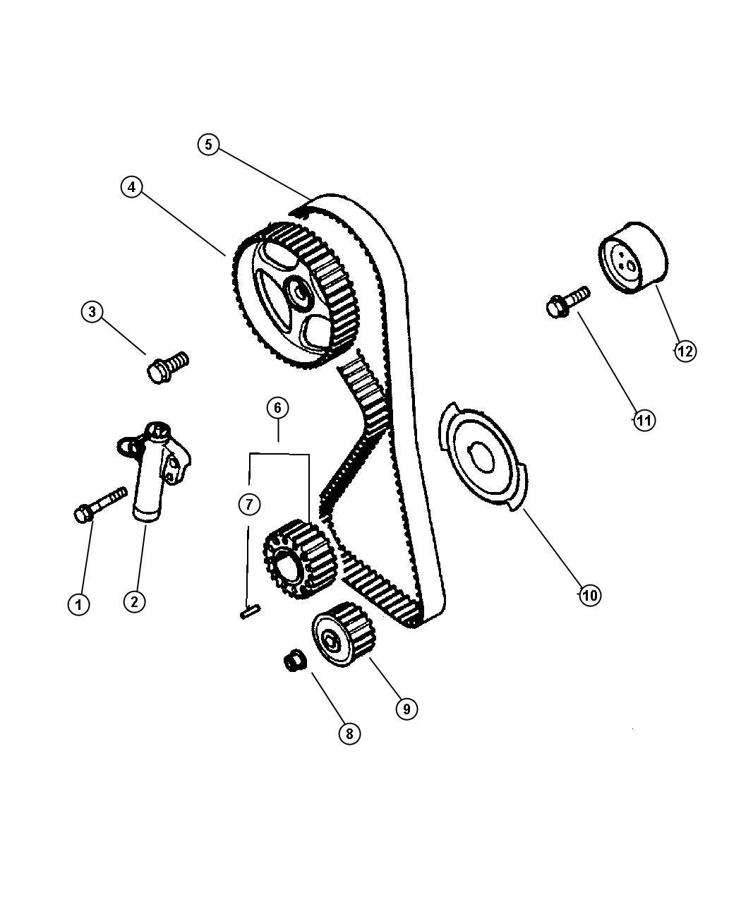Dodge Stratus Timing Belt And Sprockets 2 4l Mmc I 4