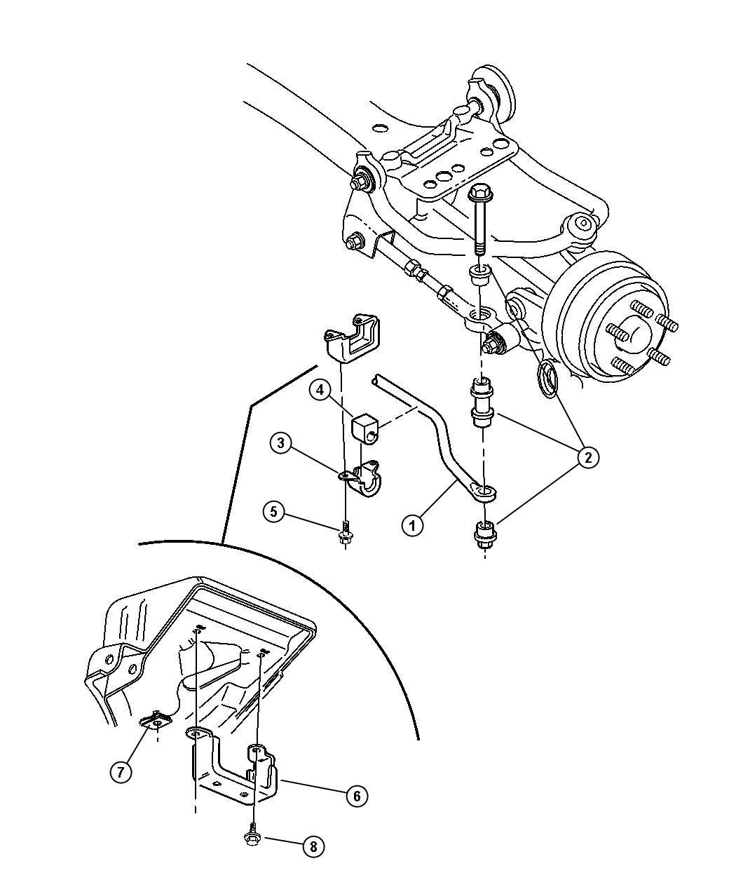 Dodge Stratus Sway Bar Rear