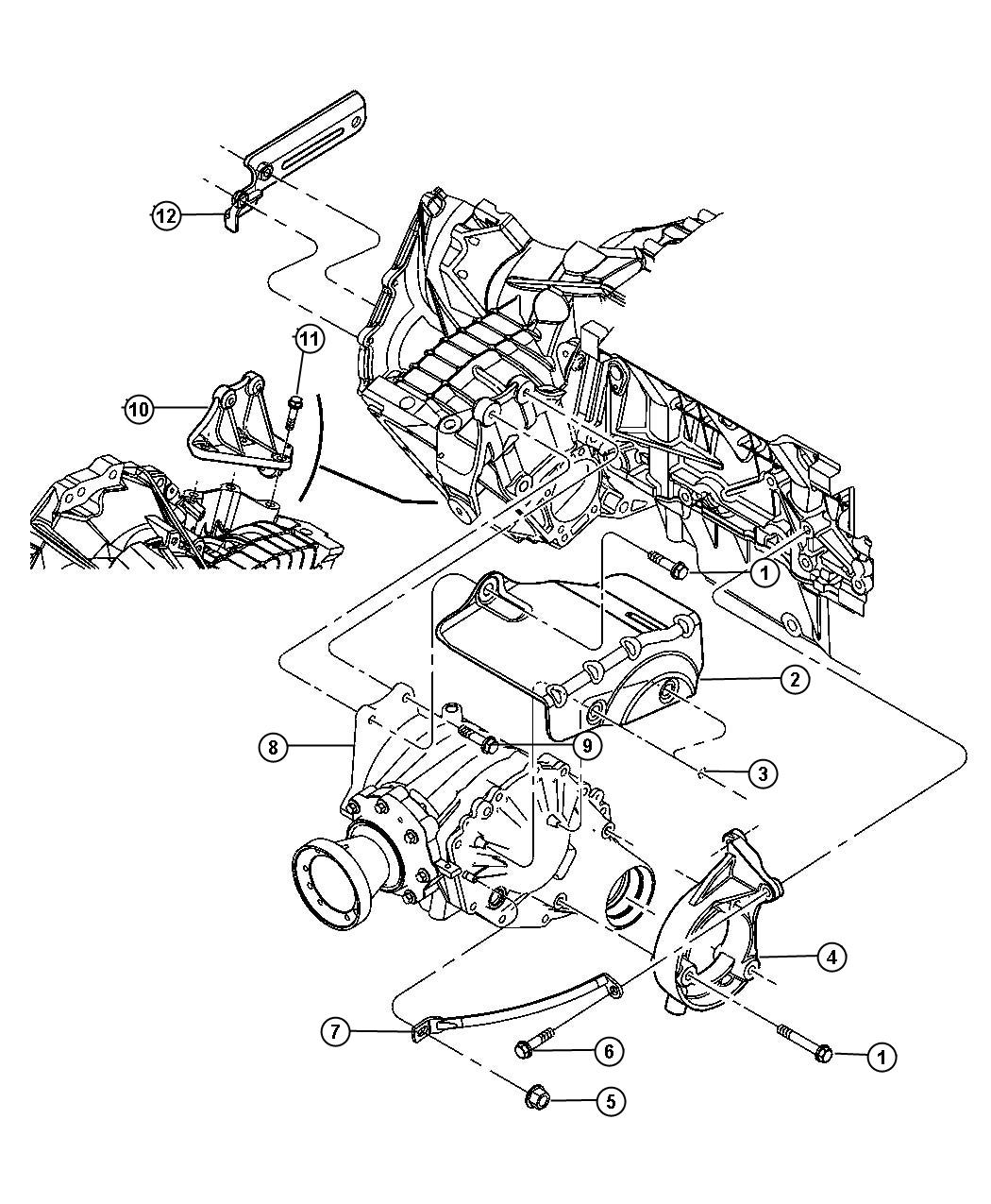 Chrysler Pacifica Power Transfer Unit Mounting