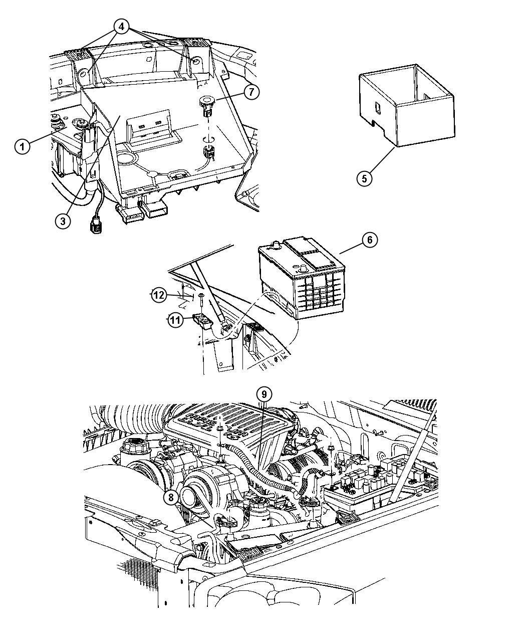 Dodge Dakota Battery Tray Amp Cables