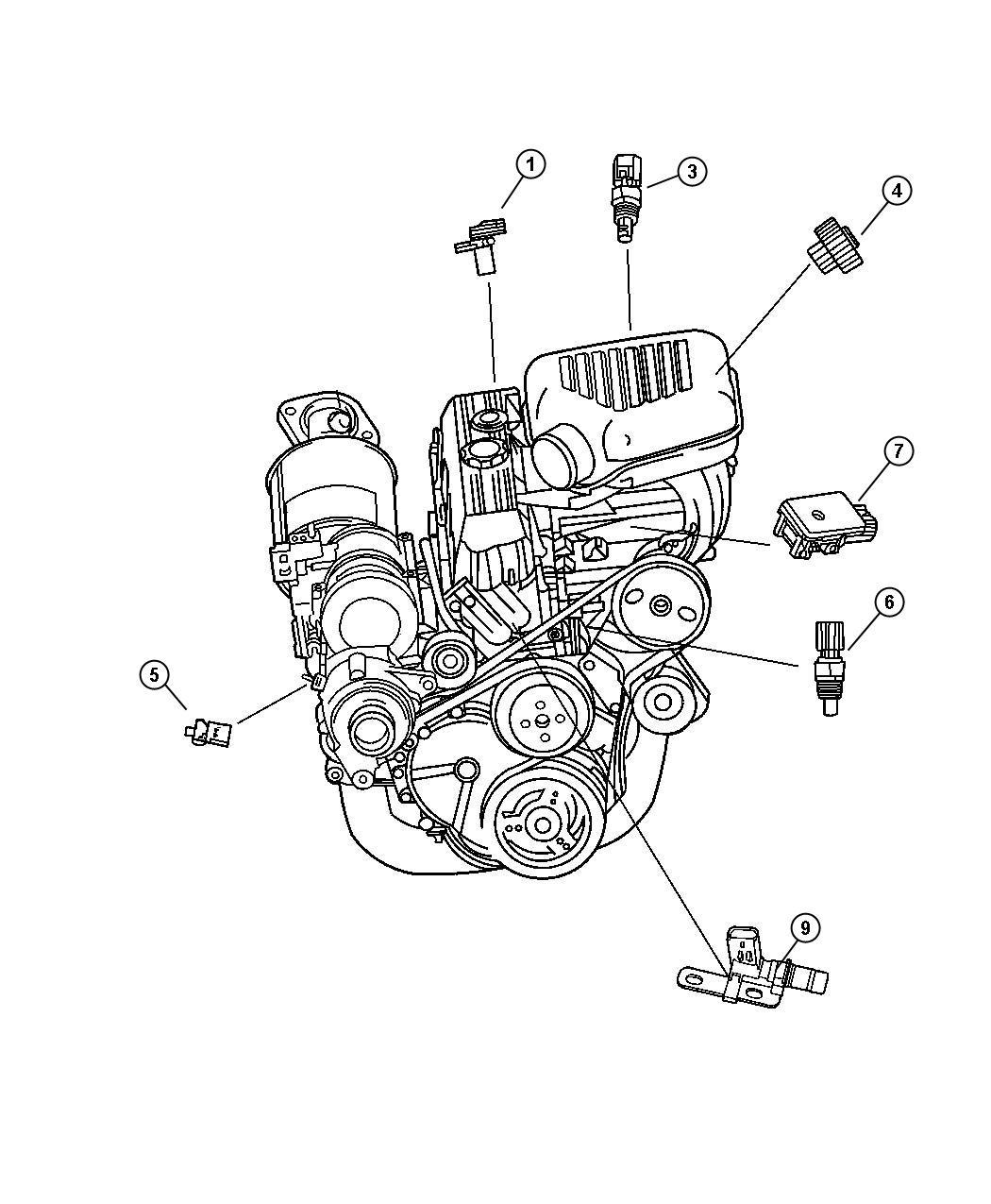 Jeep Wrangler Sensors 2 4l Engine Ed0