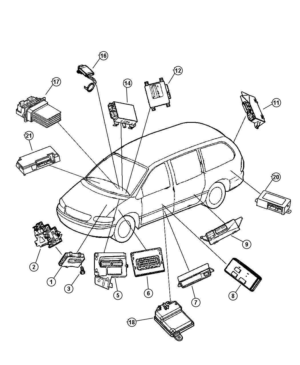 Dodge Grand Caravan Modules Electronic