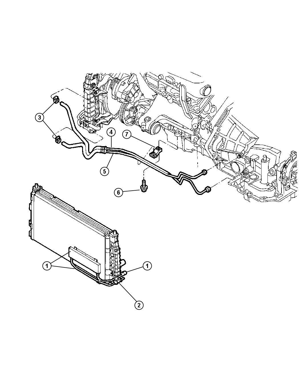 Chrysler Lhs Oil Cooler Transmission