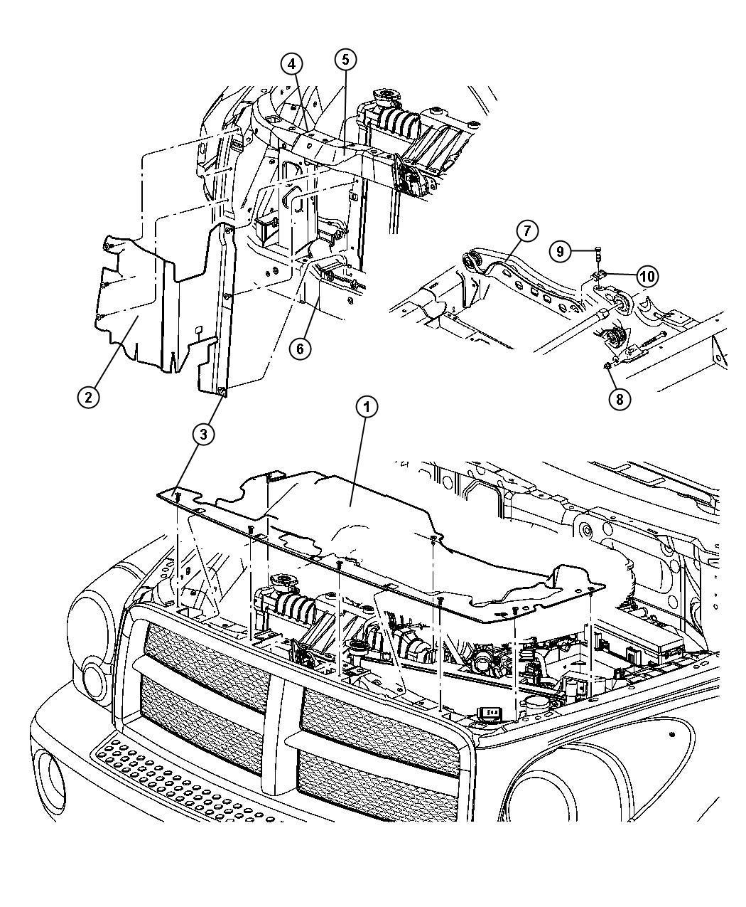 Radiator Closure And Air Deflector