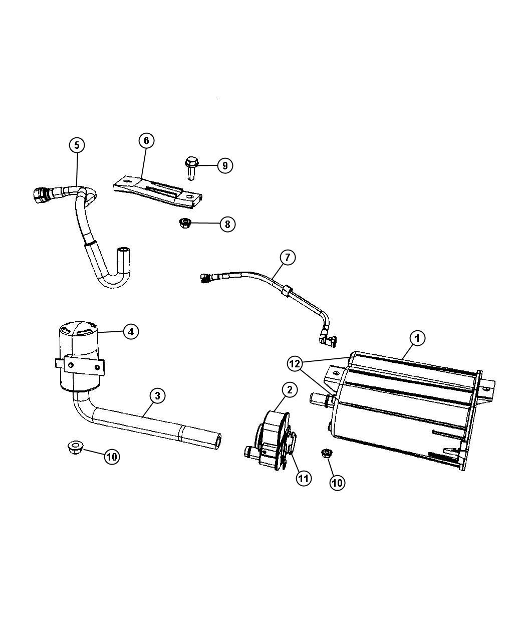 Jeep Compass Vapor Canister And Leak Detection Pump