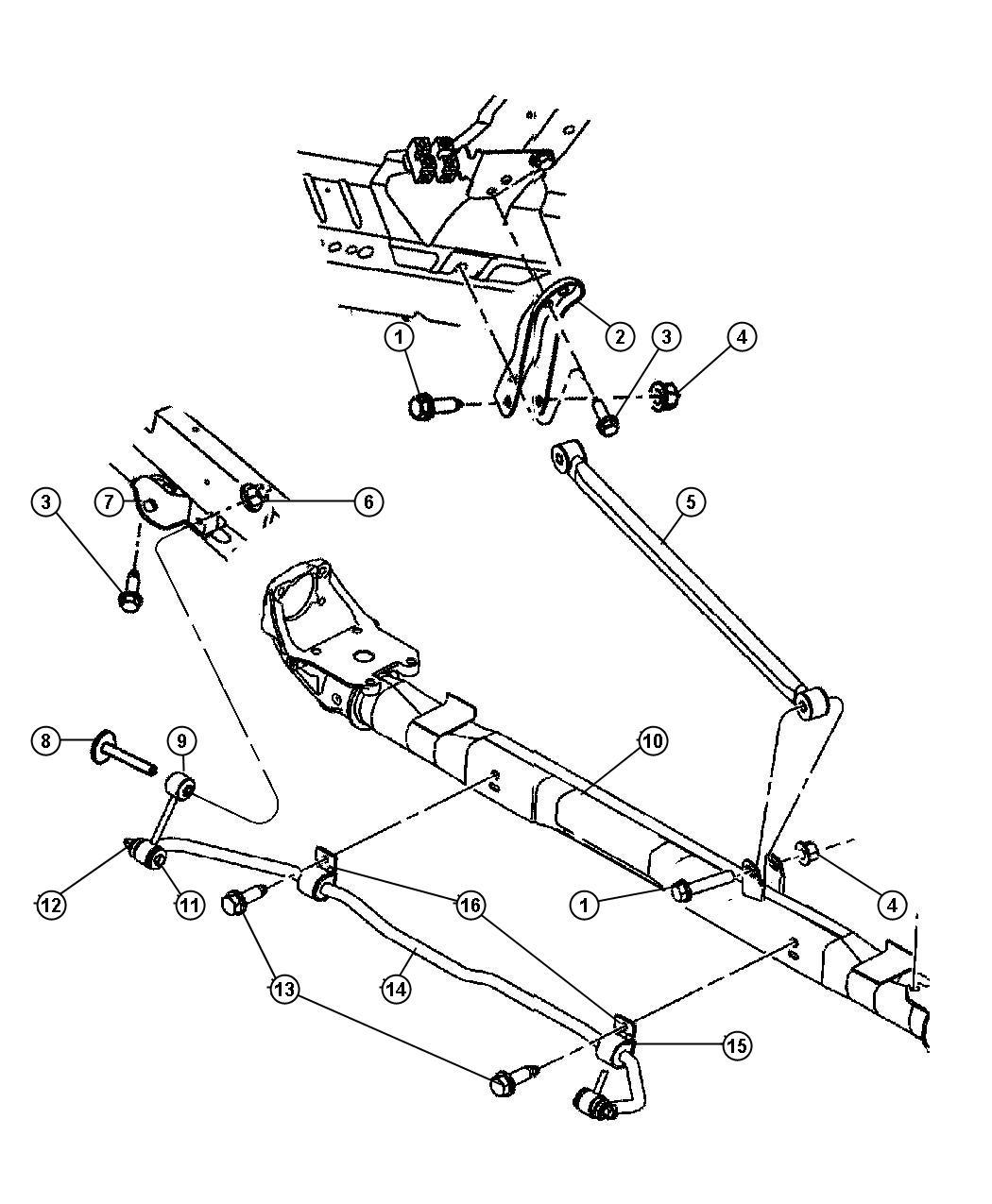 Dodge Grand Caravan Bar Rear Sway And Traction Bar