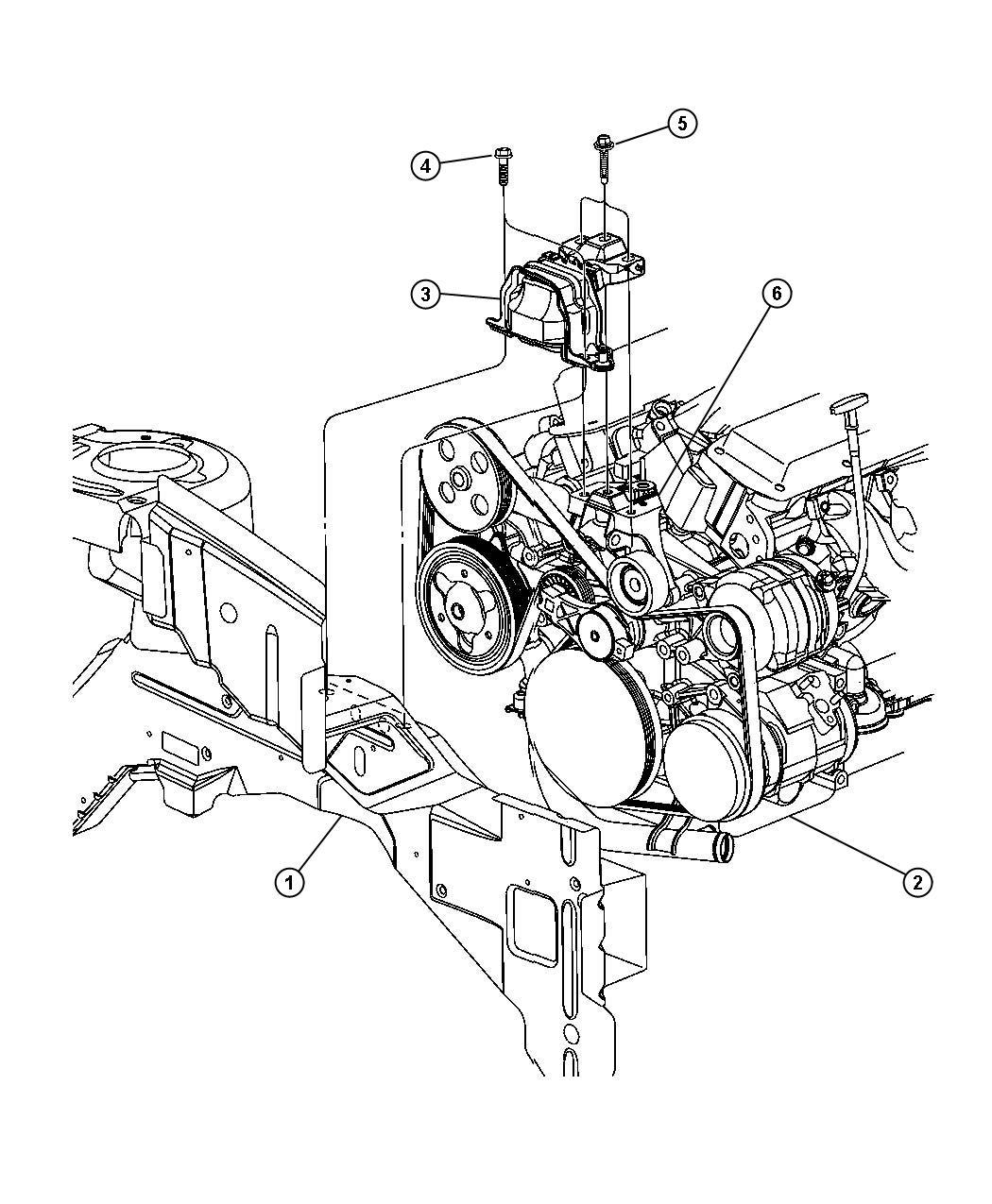 Dodge Caravan Mount Timing Chain Side Engine
