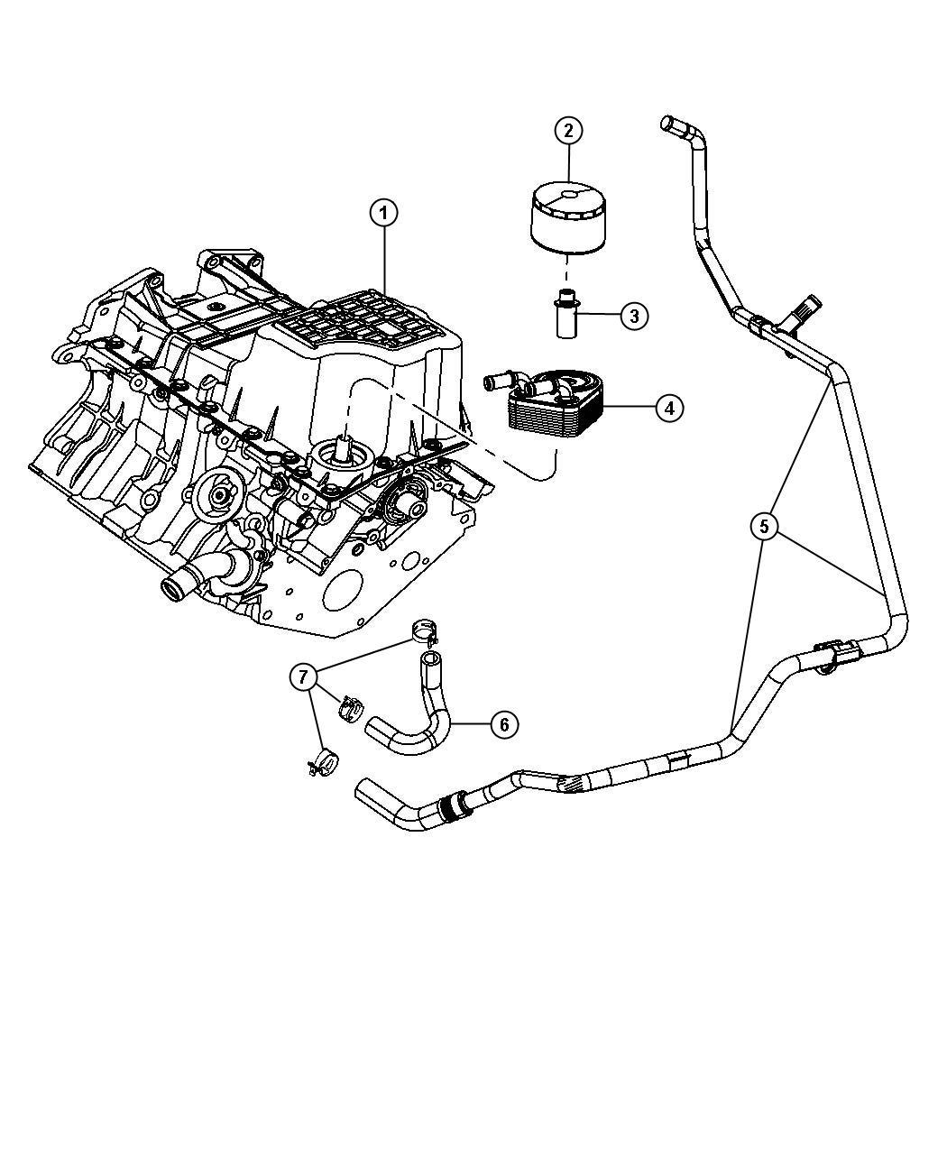 Engine Oil Cooler Oil Filter And Coolant Tubes 3 5l Egg