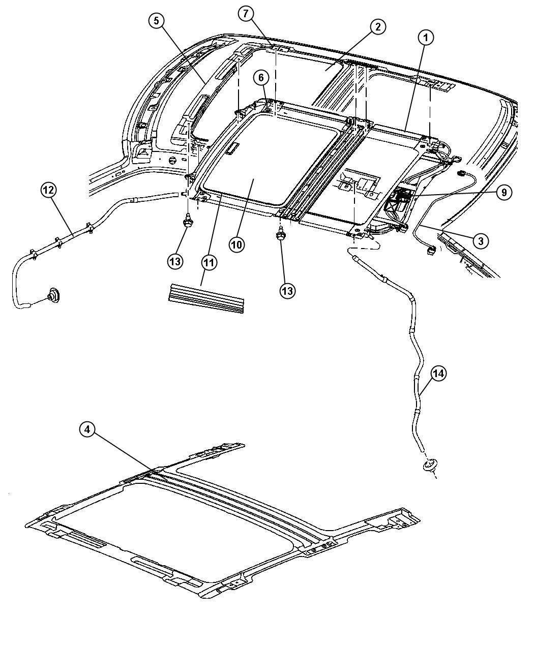Jeep Grand Cherokee Sunroof Glass And Component Parts