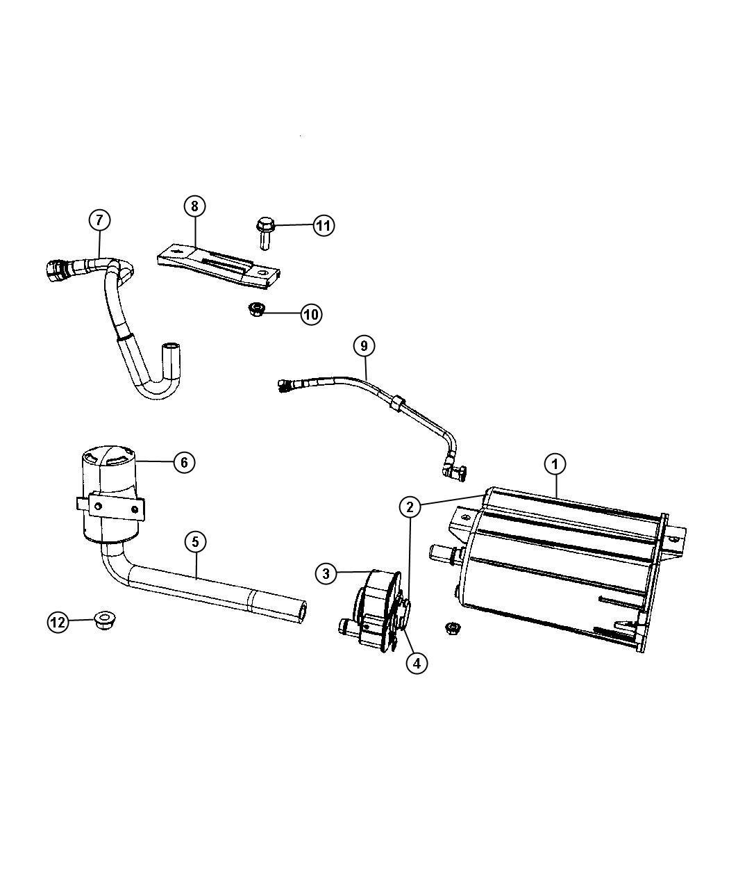 Dodge Caliber Vapor Canister And Leak Detection Pump