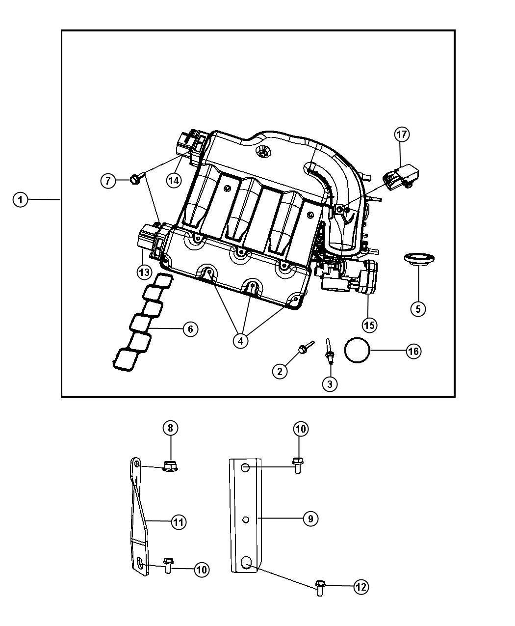 Dodge Avenger Intake Manifold Plenum 3 5l Egf