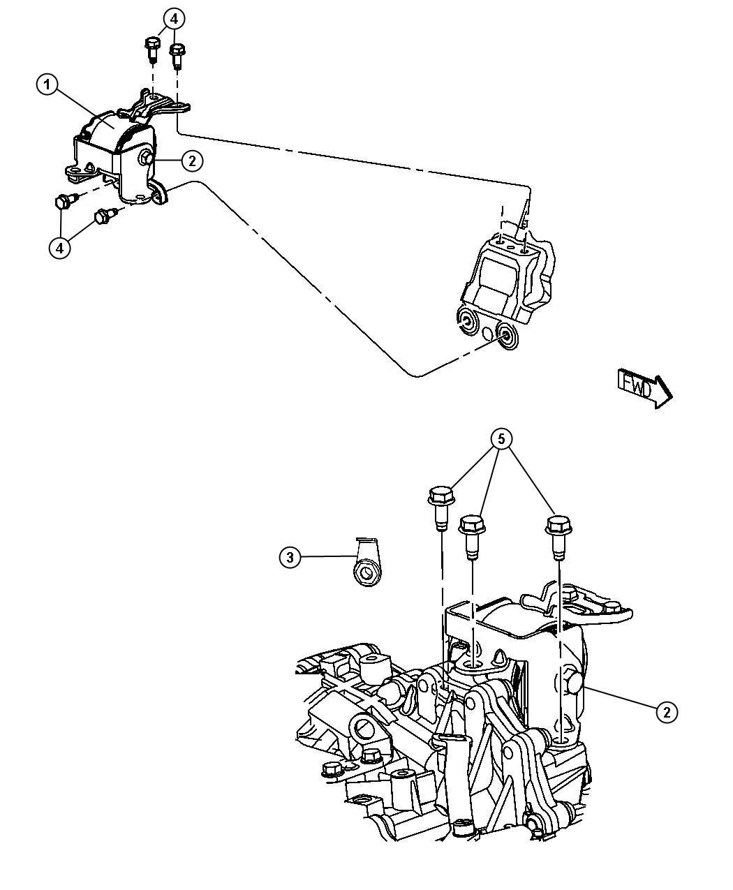 Jeep Patriot Engine Mouting Left Side Fwd 2 4l Pzev Edg