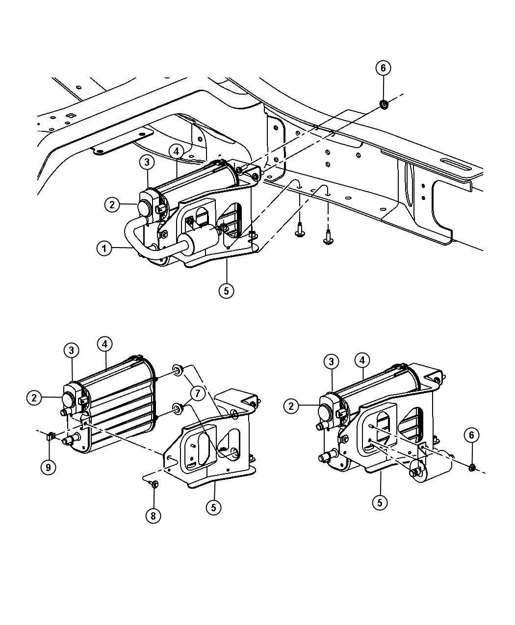 Dodge Ram Vacuum Canister Amp Leak Detection 5 7l Ezc