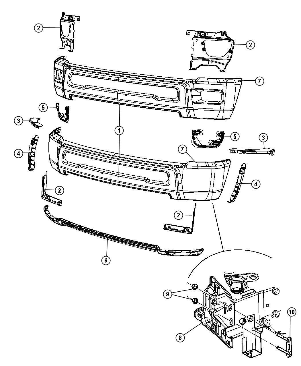 Dodge Ram Rear Bumper Parts Diagram