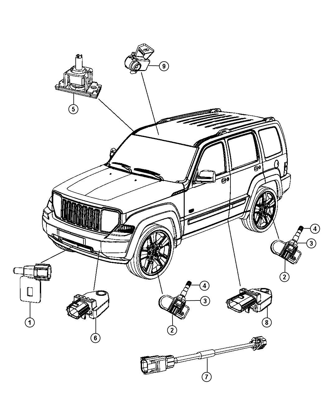 Jeep Liberty Sensors Body